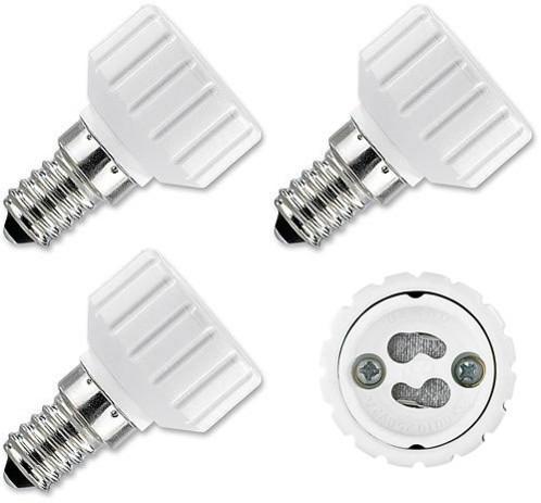 4 convertisseurs de douilles - Culot E14 vers ampoule GU10