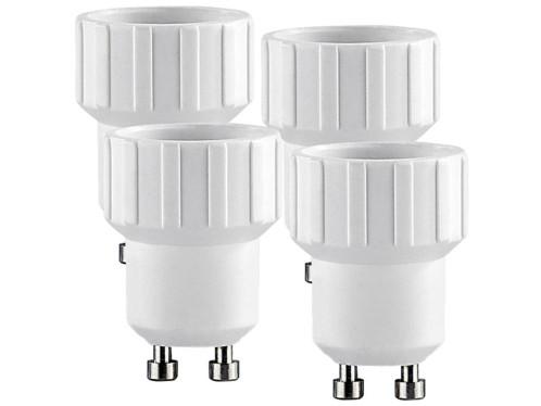 4 convertisseurs de douilles - Culot GU10 vers ampoule E14