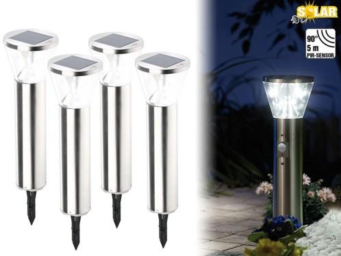 4 lampes solaires à LED ''Suprême'' avec capteur PIR