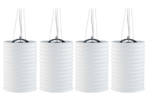 4 plafonniers avec abat-jour en verre dépoli - grand modèle