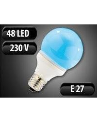 Ampoule globe 48 LED SMD E27 bleu