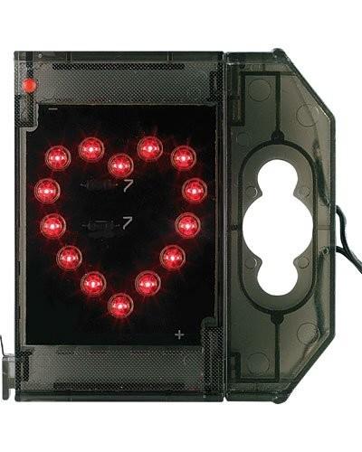 Caractère spécial lumineux à LED - '' Cœur '' rouge