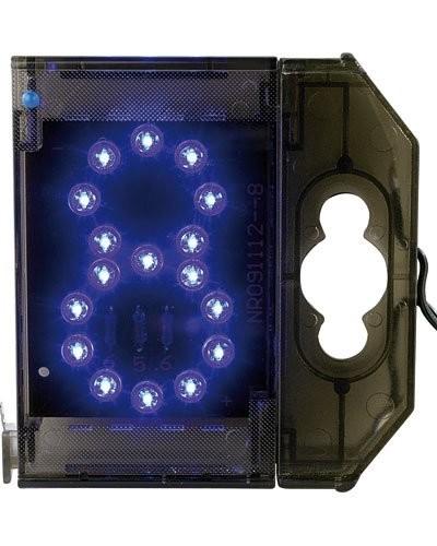 Chiffre lumineux à LED - ''8'' bleu
