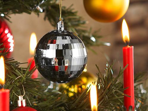 Détecteur de chaleur boule de Noël - Modèle argenté