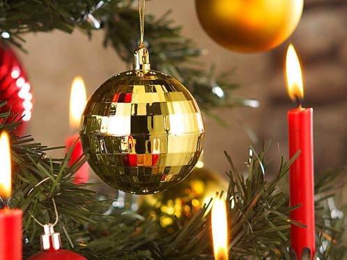 Détecteur de chaleur boule de Noël - Modèle doré