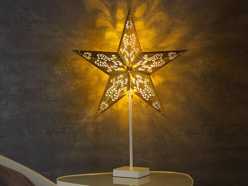 Étoile lumineuse à LED - modèle doré