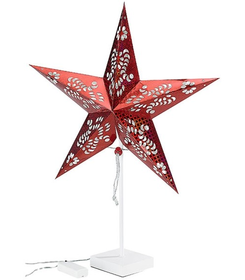 Étoile lumineuse à LED - modèle rouge