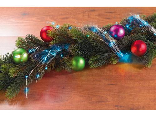 Guirlande décorative en fil métallique à LED bleues