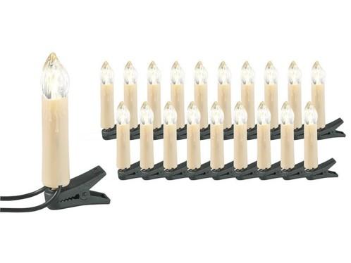 Guirlande imitation bougie - 20 lampes LED