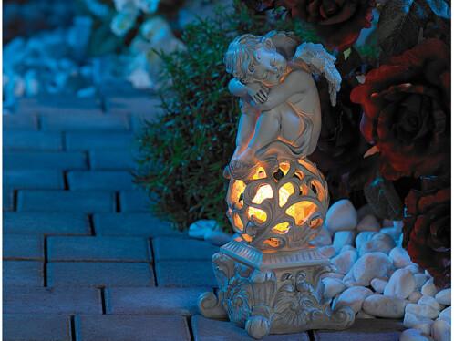 Lampe de jardin solaire décorative ''Ange Rêveur''