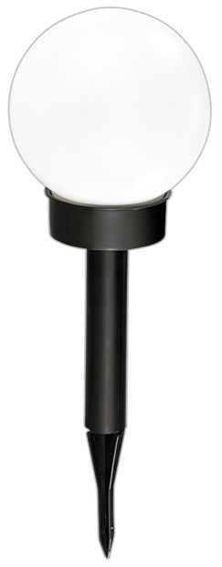 Borne lumineuse sphérique solaires à LED, Ø 20 cm, blanc lumière du jour