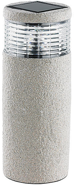 Lanterne solaire type pierre modèle ''Maxi Grey Stone''