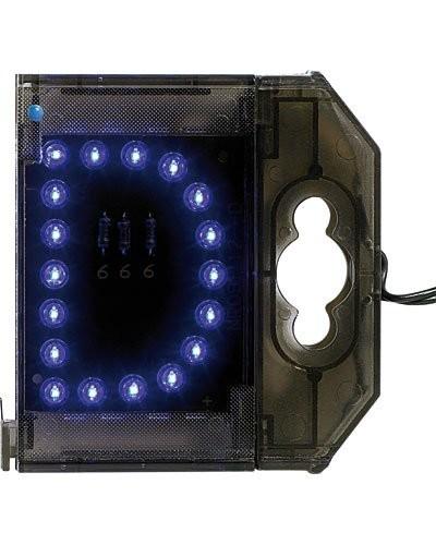 Lettre lumineuse à LED - ''D'' bleu