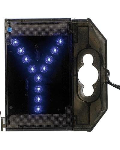 Lettre lumineuse à LED - ''Y'' bleu