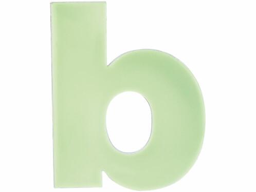 Lettre pour numéro de maison phosphorescent - ''B''