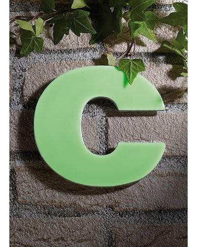 Lettre pour numéro de maison phosphorescent - ''C''