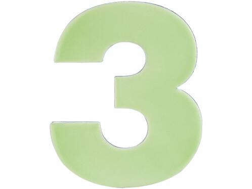 Numéro de maison phosphorescent - ''3''