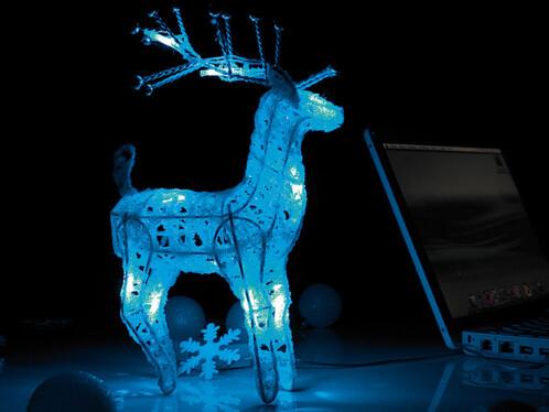 Prix renne du p re no l lumineux usb pile - Decoration noel renne lumineux ...