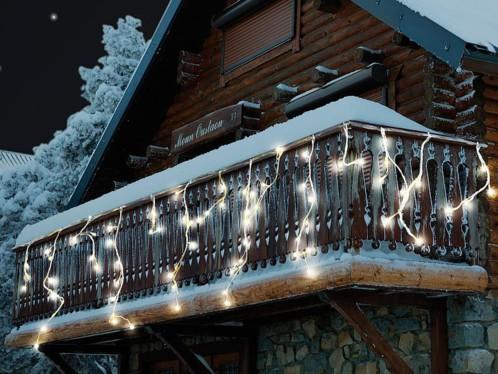 Rideau de lumière ''Snow'' - blanc chaud