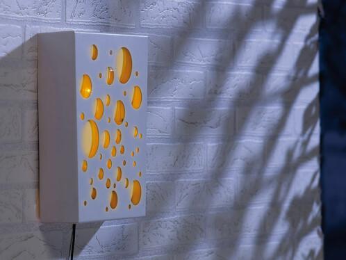Tableau mural solaire à LED oranges ''Planètes''