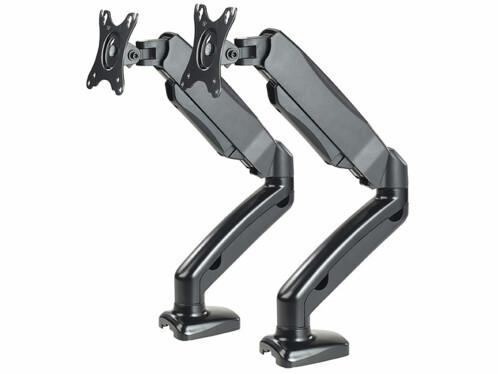 """Lot de 2 bras articulés pneumatiques GSA-26 pour écran PC jusqu'à 27""""."""