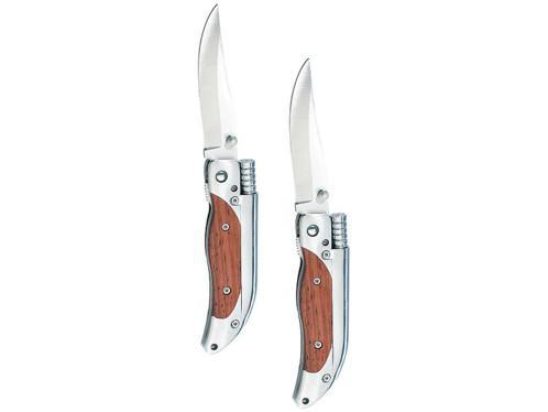 2 couteaux de poche avec allume-feu en magnésium