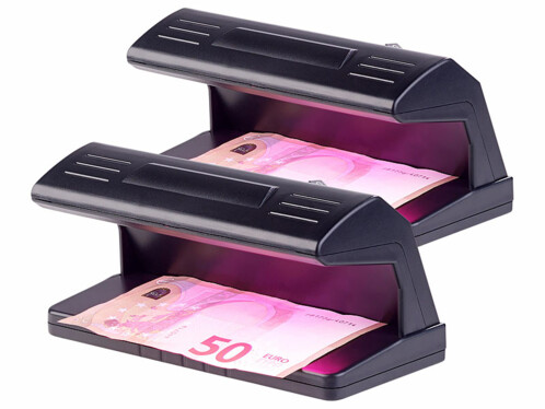 2 détecteurs UV de faux billets