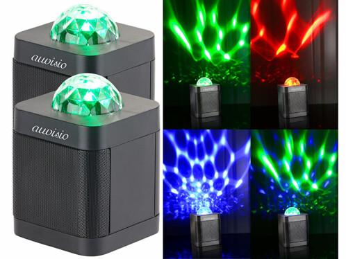 2 enceintes bluetooth 4.0 avec effets lumineux RVB