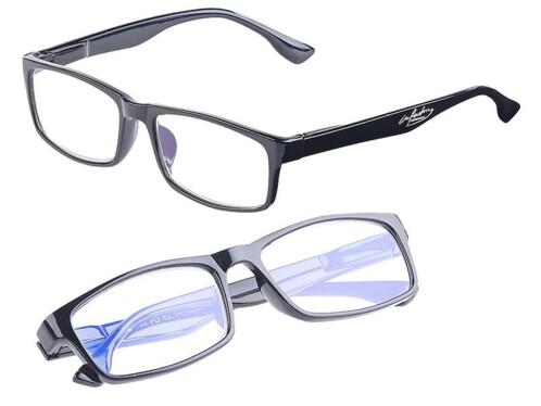 2 lunettes de protection anti-lumière bleue 0 dioptrie avec protection UV400