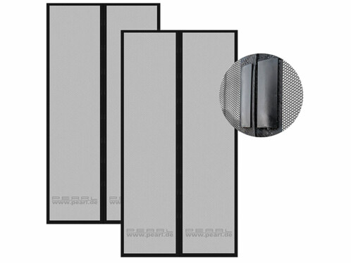 2 moustiquaires à fermeture magnétique