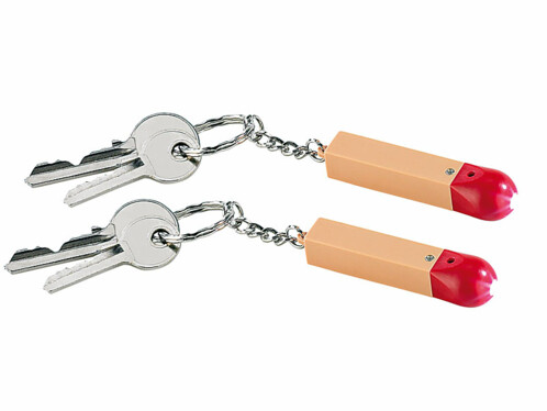 2 porte-clés design allumette avec LED