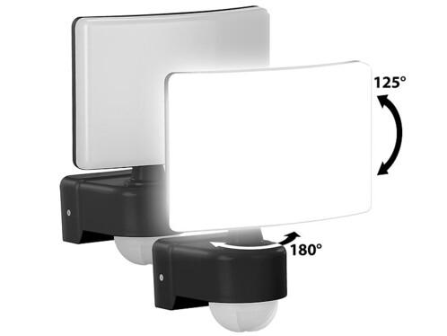 2 projecteurs LED avec détecteur de mouvement PIR - 2200 lm - 30 W - Blanc chaud