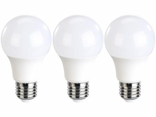 Pack de 3 ampoules LED E27 de la marque Luminea.