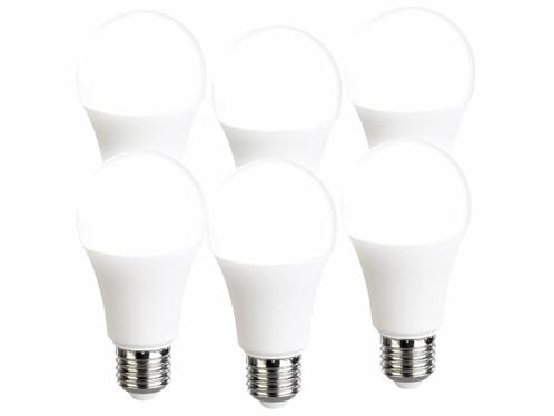 6 ampoules LED E27 à intensité variable - 1050 lm - Blanc neutre