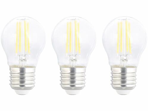 Pack de 3 ampoules LED E27 filament Luminea.