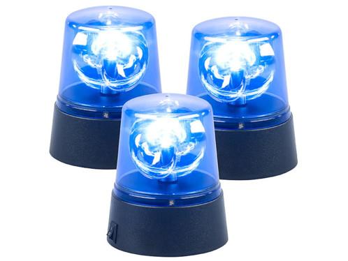 3 lampes gyrophare bleu à LED
