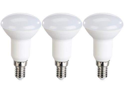 Pack de 3 spots LED E14 réflecteur R50  Luminea.