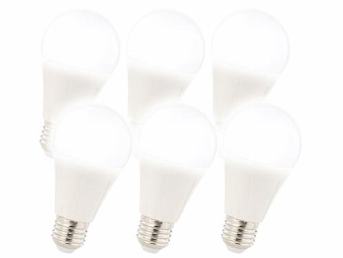 6ampoules LED E27 11 W - Blanc