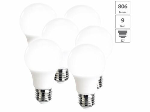 6 ampoules LED E27 - 806 lm - Blanc neutre
