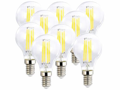 9 ampoules LED filament E14 à intensité variable - 4 W - 470 lm - Blanc chaud