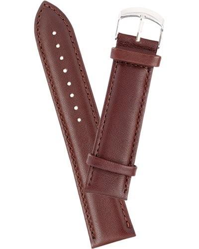 Bracelet de montre cuir lisse - marron                 18 mm