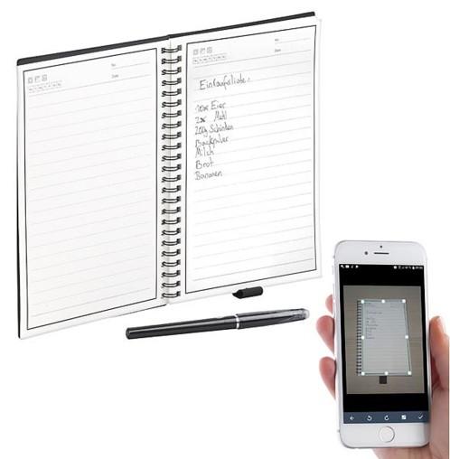 Carnet de prise de notes reutilisable encre effacable avec application numérisation de ecriture manuelle