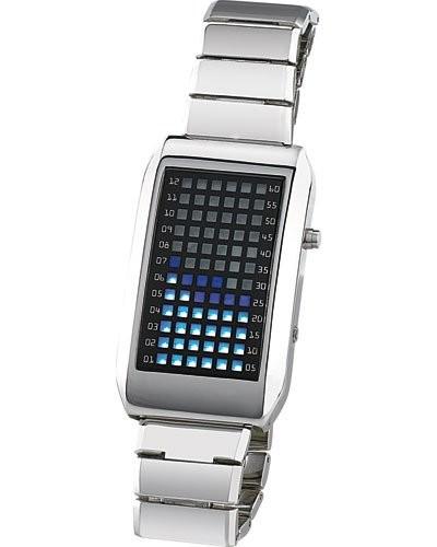 Montre bracelet design ''Blue Sphere'' à LED