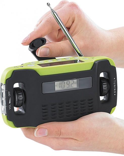 Radio Solaire Portable AM FM NOAA Manivelle Dynamo Radio Rechargeable 2000mAh