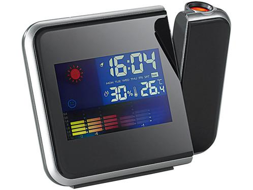 Réveil à projection avec thermomètre et hygromètre