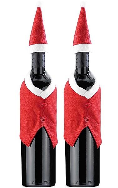 2 Costumes de bouteille ''Père Noël''