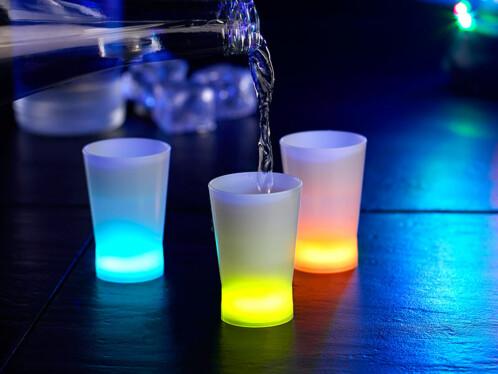 3 verres à shooters lumineux