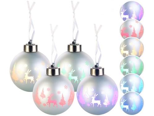 4 Boules de Noël à LED couleur changeante