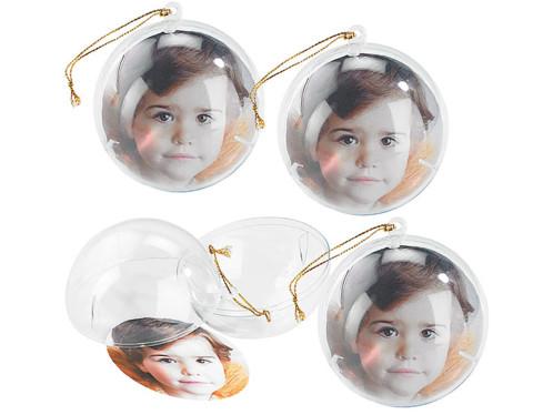 4 Boules de Noël photo personnalisables