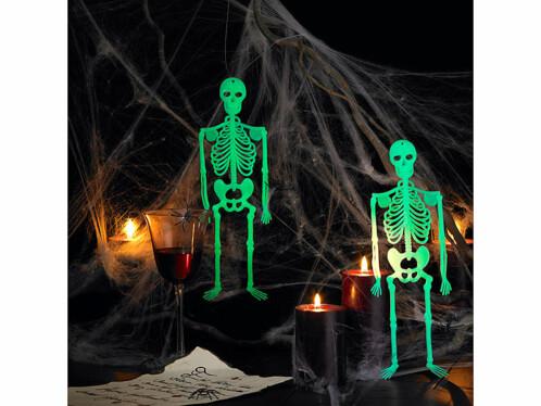4 Squelettes phosphorescents ''Spooky Bones'' 32 cm